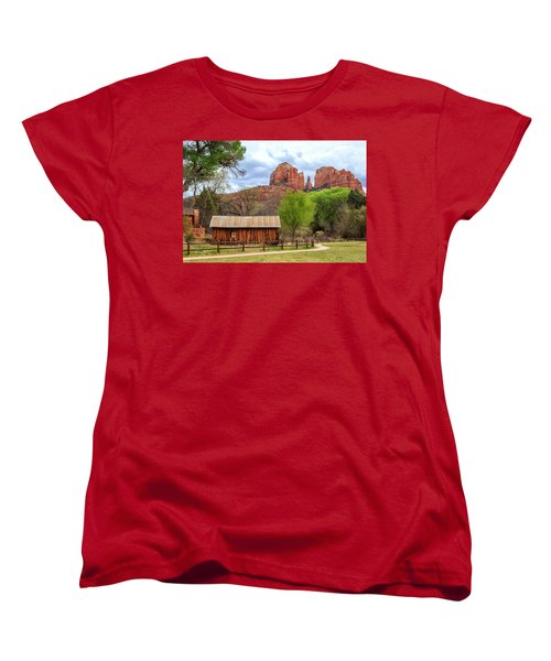 Women's T-Shirt (Standard Cut) featuring the photograph Cabin At Cathedral Rock by James Eddy