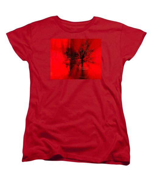 Women's T-Shirt (Standard Cut) featuring the photograph Cabin Fever Dance by Susan Capuano