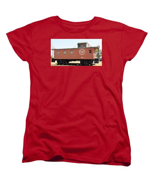 Women's T-Shirt (Standard Cut) featuring the photograph Caboose by Ray Shrewsberry