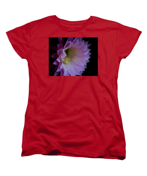 Cactus Easter Lily Bright Women's T-Shirt (Standard Cut) by Marna Edwards Flavell