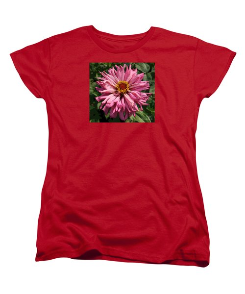 Women's T-Shirt (Standard Cut) featuring the photograph Cactus Petal Zinnia by Jeanette French