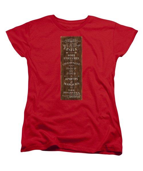 Women's T-Shirt (Standard Cut) featuring the painting Cafe De Paris 2 by Debbie DeWitt