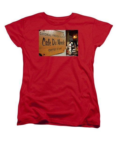 Cafe Du Monde Women's T-Shirt (Standard Cut) by KG Thienemann