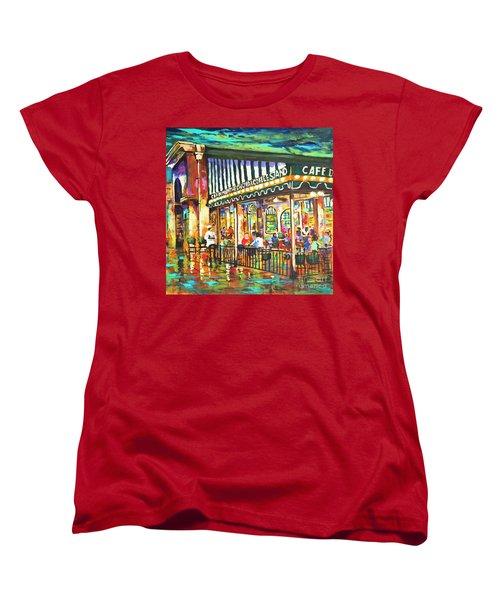 Cafe Du Monde Night Women's T-Shirt (Standard Cut) by Dianne Parks