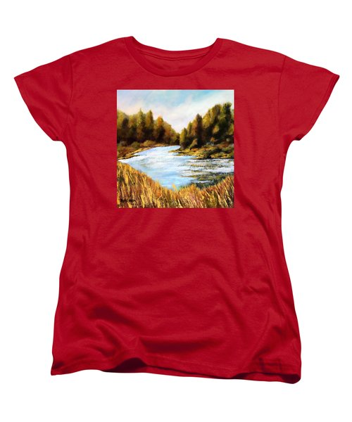 Calapooia River Women's T-Shirt (Standard Cut) by Marti Green