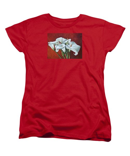 Women's T-Shirt (Standard Cut) featuring the painting Calas by Natalia Tejera