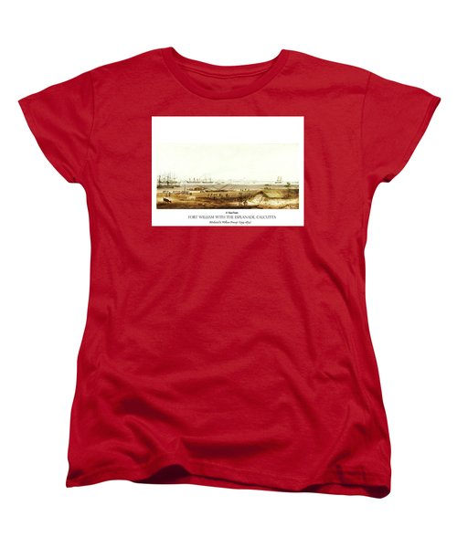 Women's T-Shirt (Standard Cut) featuring the digital art Calcutta In 18th Century by Asok Mukhopadhyay