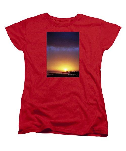 California Ocean Sunset Women's T-Shirt (Standard Cut) by Ted Pollard