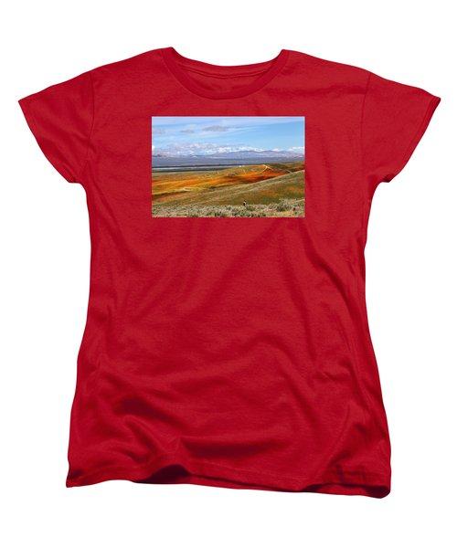 Women's T-Shirt (Standard Cut) featuring the photograph California Poppy Reserve by Viktor Savchenko