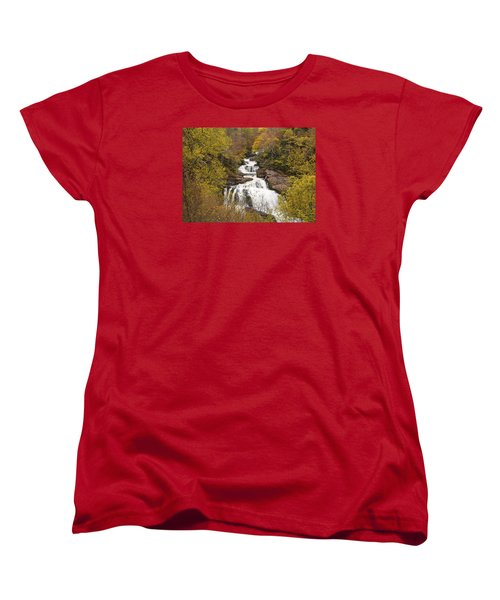 Women's T-Shirt (Standard Cut) featuring the photograph Callasaja Falls- North Carolina by Penny Lisowski