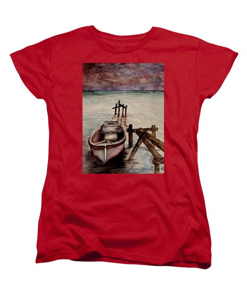 Calm Waters Women's T-Shirt (Standard Cut) by Lil Taylor