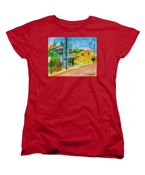 Women's T-Shirt (Standard Cut) featuring the painting Camilles Place by Eric Samuelson