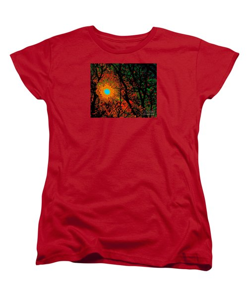 Women's T-Shirt (Standard Cut) featuring the photograph Campfire Sparks by Jesse Ciazza