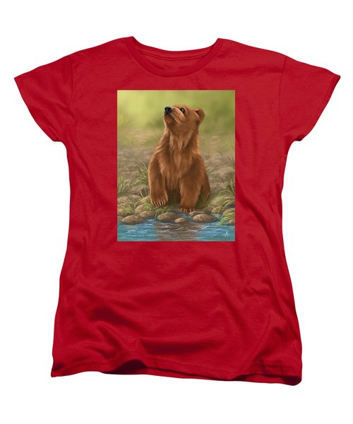 Women's T-Shirt (Standard Cut) featuring the painting Can I Dive? by Veronica Minozzi