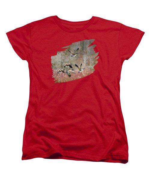 Canada Geese In Flight Women's T-Shirt (Standard Cut)