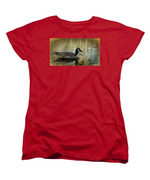 Women's T-Shirt (Standard Cut) featuring the painting Canadian Goose by Steven Richardson