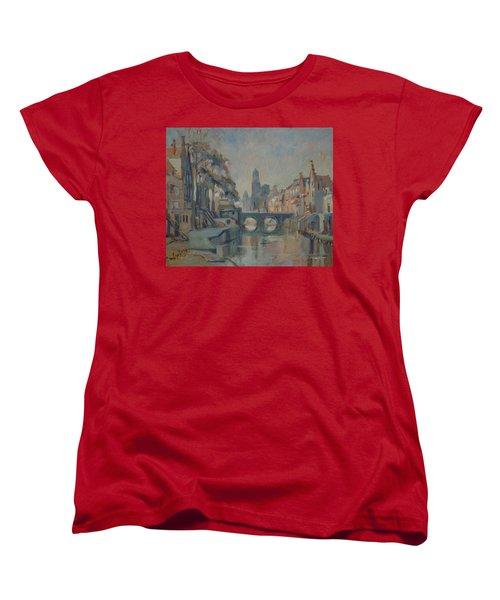 Canal In Utrecht Women's T-Shirt (Standard Fit)