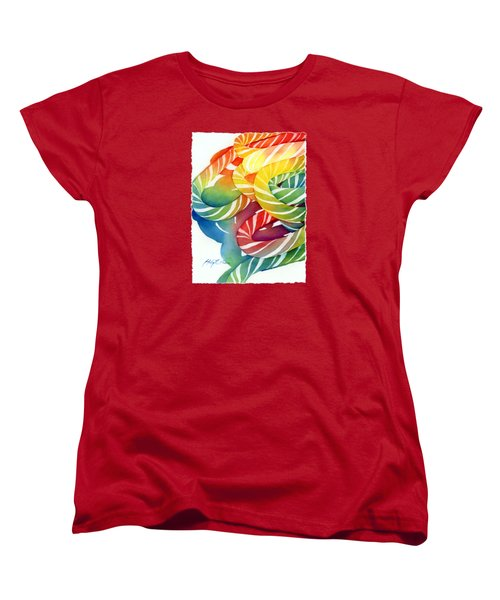 Candy Canes Women's T-Shirt (Standard Cut) by Hailey E Herrera