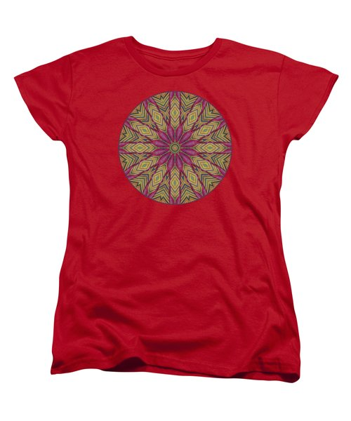 Canna Leaf - Mandala - Transparent Women's T-Shirt (Standard Cut) by Nikolyn McDonald