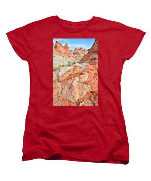 Canyon Color In Valley Of Fire Women's T-Shirt (Standard Cut) by Ray Mathis