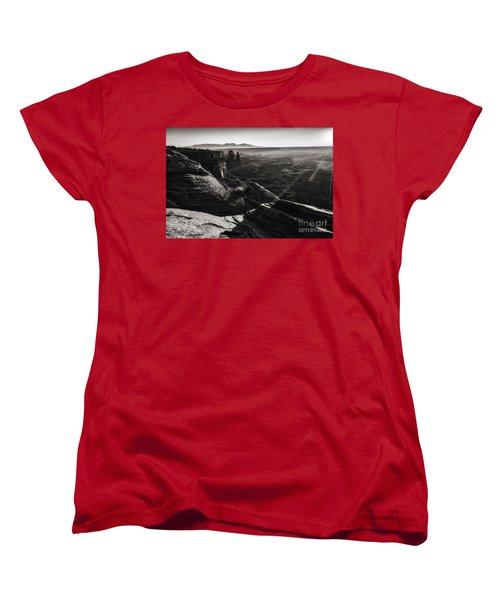 Women's T-Shirt (Standard Cut) featuring the photograph Canyon Sunbeams by Kristal Kraft