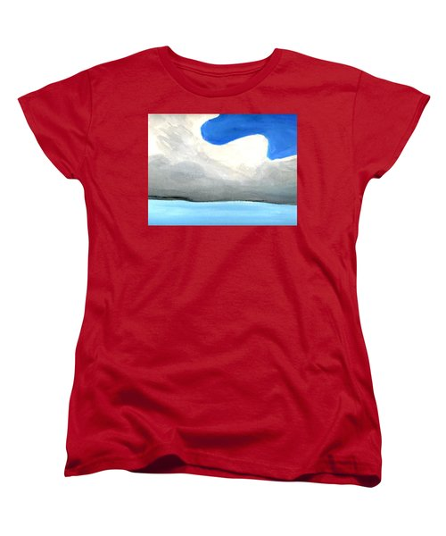 Women's T-Shirt (Standard Cut) featuring the painting Caribbean Trade Winds by Dick Sauer