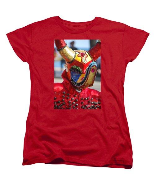 Carnival Red Duck Portrait Women's T-Shirt (Standard Cut) by Heather Kirk