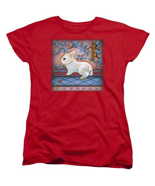 Carpe Diem Rabbit Women's T-Shirt (Standard Cut) by Retta Stephenson