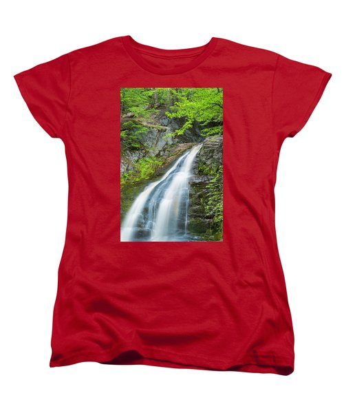 Women's T-Shirt (Standard Cut) featuring the photograph Cascade Waterfalls In South Maine by Ranjay Mitra