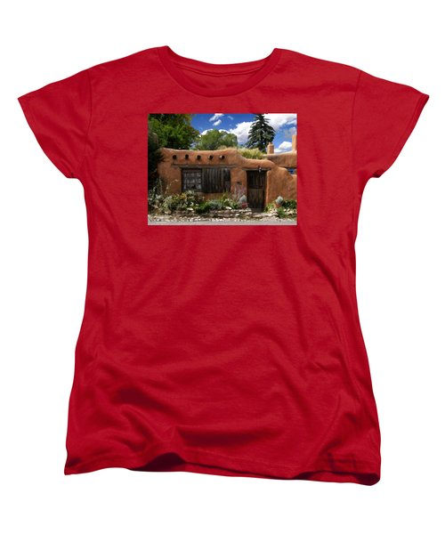 Casita De Santa Fe Women's T-Shirt (Standard Cut) by Kurt Van Wagner
