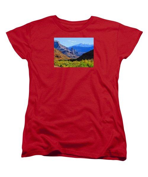 Castle Valley Women's T-Shirt (Standard Cut) by Laura Ragland