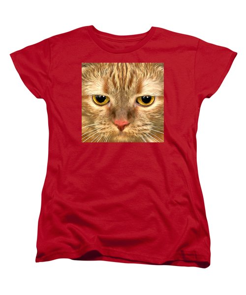 Cat Musya Women's T-Shirt (Standard Cut) by Sergey Lukashin