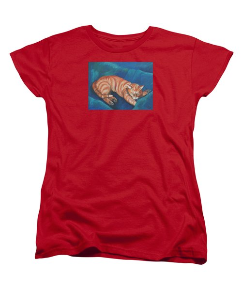 Cat Napping Women's T-Shirt (Standard Cut)