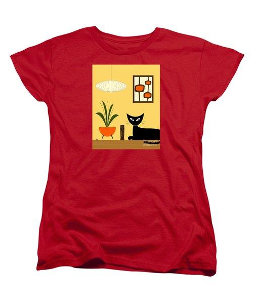 Cat On Tabletop With Mini Mod Pods 3 Women's T-Shirt (Standard Cut)