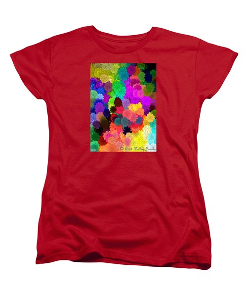 Women's T-Shirt (Standard Cut) featuring the painting Catcha Little Groove by Holley Jacobs