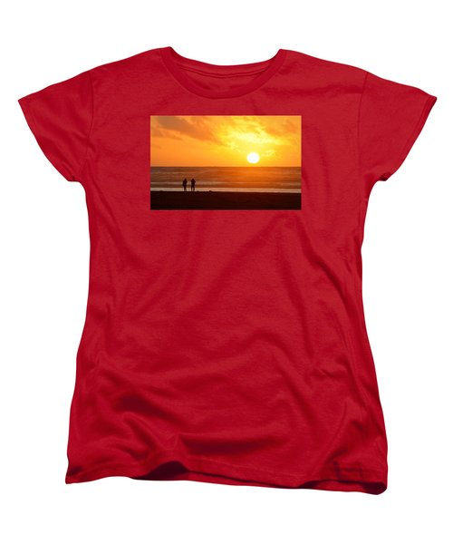 Catching A Setting Sun Women's T-Shirt (Standard Cut) by AJ Schibig