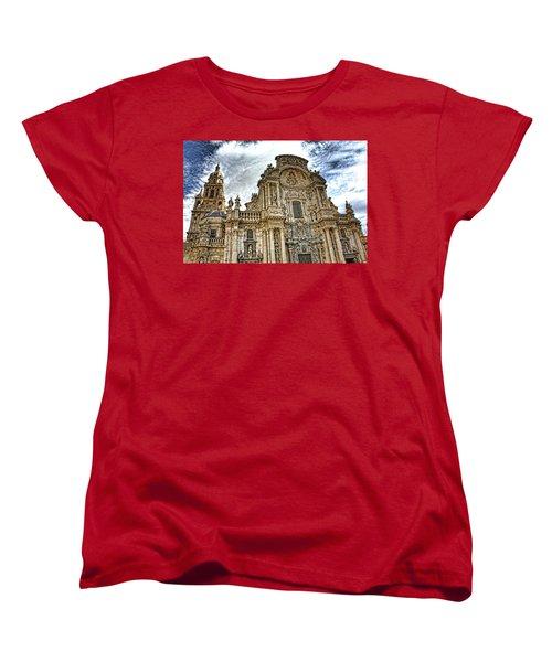 Women's T-Shirt (Standard Cut) featuring the digital art Catedral De Murcia by Angel Jesus De la Fuente