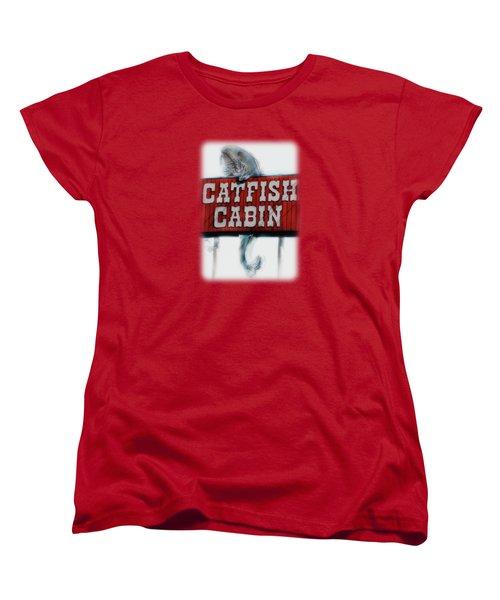 Catfish Cabin  Women's T-Shirt (Standard Cut) by Anita Faye