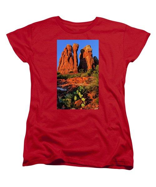 Cathedral 06-074 Women's T-Shirt (Standard Cut) by Scott McAllister