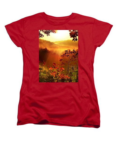 Cathedral Of Light - Special Crop Women's T-Shirt (Standard Cut) by Rob Blair