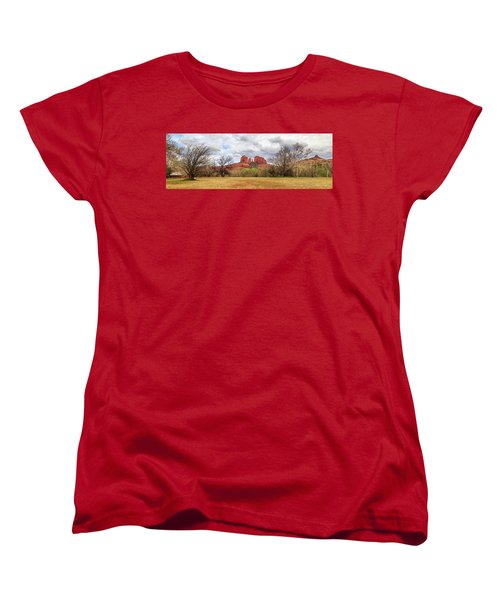 Women's T-Shirt (Standard Cut) featuring the photograph Cathedral Rock Panorama by James Eddy