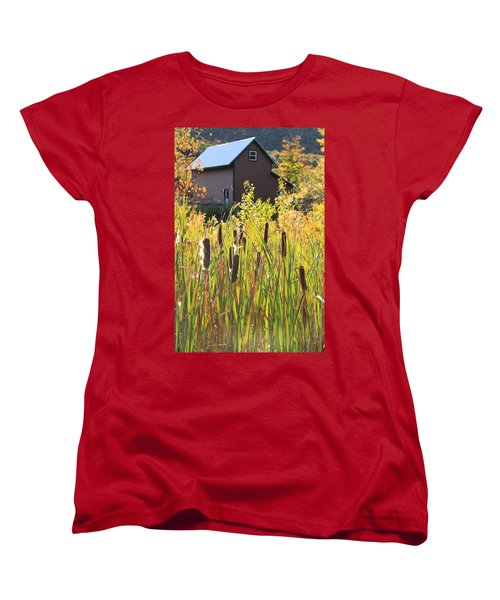Cattails And Barn Women's T-Shirt (Standard Cut) by Roupen  Baker