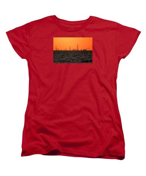 Cedar Point Skyline Women's T-Shirt (Standard Cut) by Rob Blair