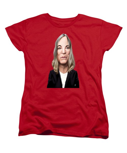 Women's T-Shirt (Standard Cut) featuring the drawing Celebrity Sunday - Patti Smith by Rob Snow
