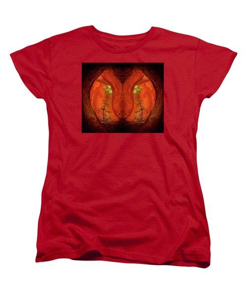 Center Column Women's T-Shirt (Standard Cut) by Scott McAllister