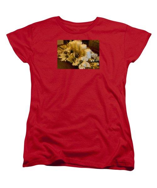 Centerpiece For Christmas Women's T-Shirt (Standard Cut) by Cathy Jourdan