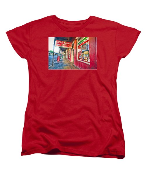 Women's T-Shirt (Standard Cut) featuring the photograph Central Grocery And Deli In The French Quarter by Andy Crawford