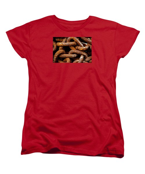 Chains  Women's T-Shirt (Standard Cut) by Gary Bridger