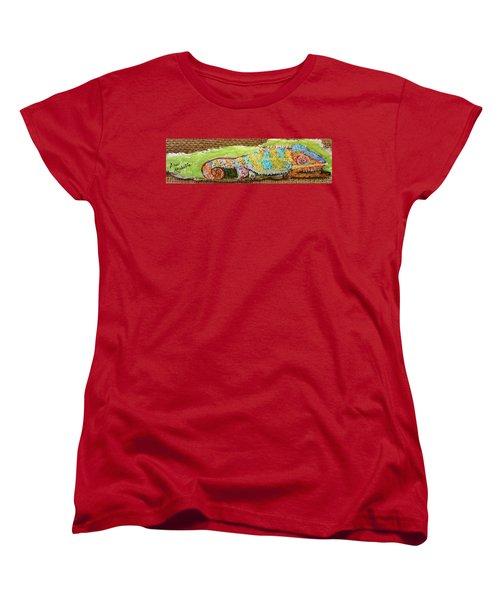 Chameleon Women's T-Shirt (Standard Cut) by Ann Michelle Swadener