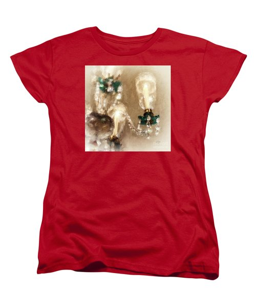 Chandelier At Winterthur Women's T-Shirt (Standard Cut) by Lois Bryan